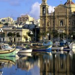 church-in-harbor-town-in-malta